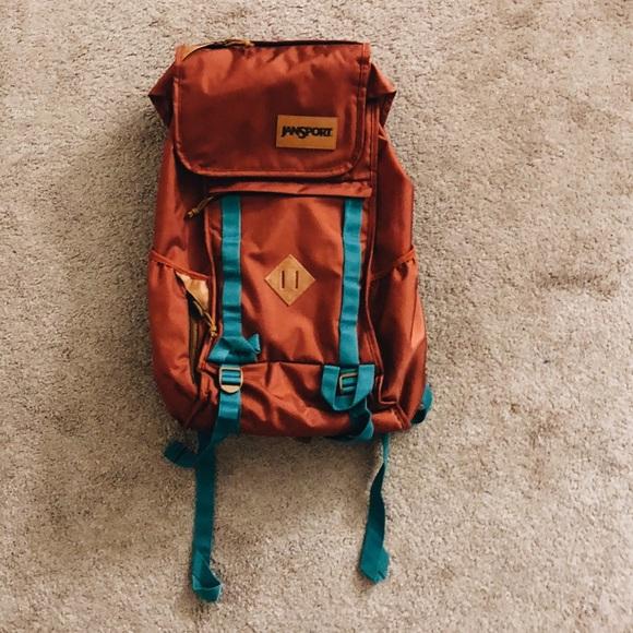 b1a88a6032e2 Jansport Other - Jansport Orange and Teal Vintage Backpack